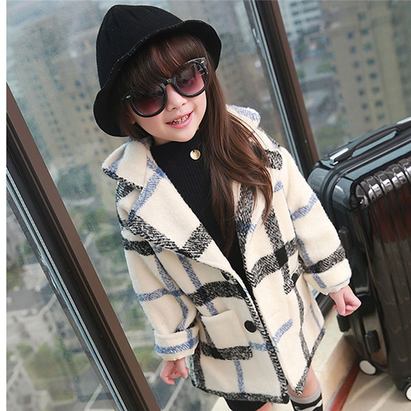 Woolen Casual Cape Lattice Coat Jacket Sweater Girl Children For 2 To 7 Years Old Children Winter Jackets Girls Warm Clothes<br><br>Aliexpress