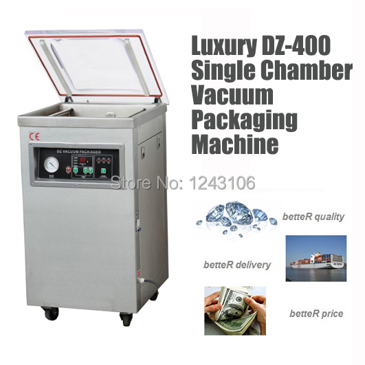 DZ-400 stainless steel big power vacuum packaging machine, finish,rice commercial vacuum sealer,industrial vacuum package machin(China (Mainland))