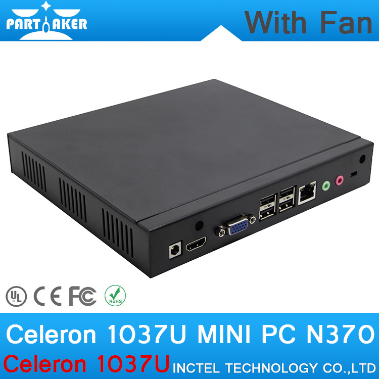 4G RAM 512G SSD lowest price mini pc windows 8 mini pc x86 1037u with Intel Celeron 1037U dual core 1.8GHZ small pc with fan(China (Mainland))