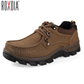 New spring autumn genuine leather men casual flats cowhide mens boot man botas warm shoes cowboy