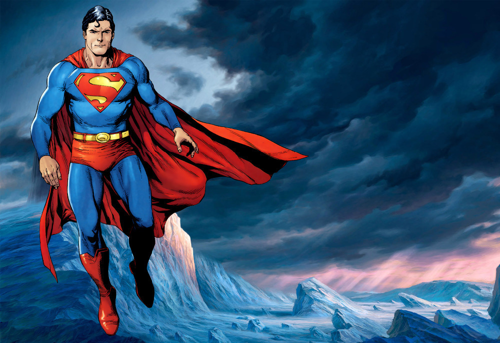 "Free shipping 24""X36"" inch Fantasy&Game&Movies&Comics Super Hero WALL Poster 34 ice superman Silk Custom art PRINT unframed(China (Mainland))"