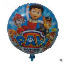 18 inch cartoon patrol dog aluminum balloons foil balloons wholesale kids toys party birthday holiday gifts(China (Mainland))