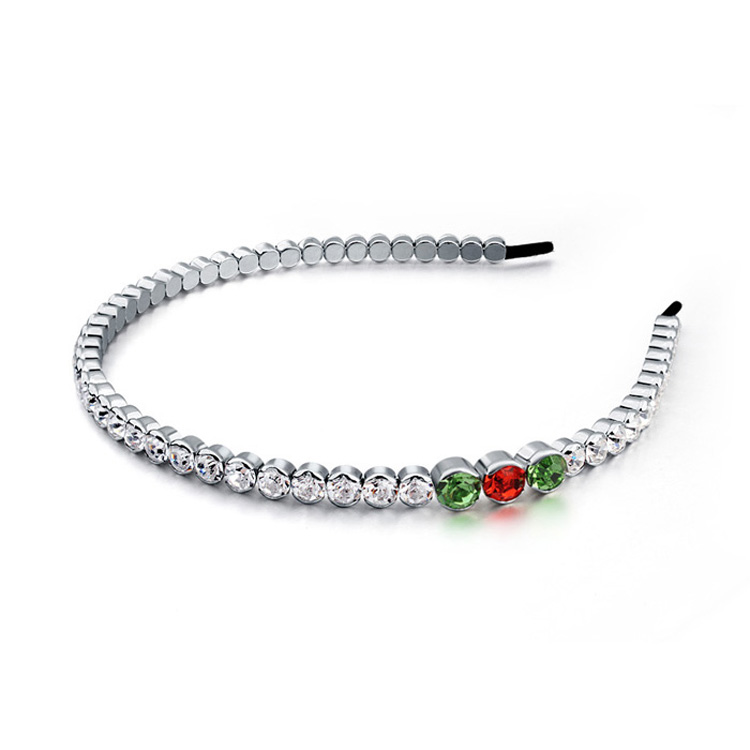 Made With Genuine Swarovski Elements Crystal Headband Hair Jewelry Accessories White Gold Plated Women Hairband Wedding Gifts(China (Mainland))