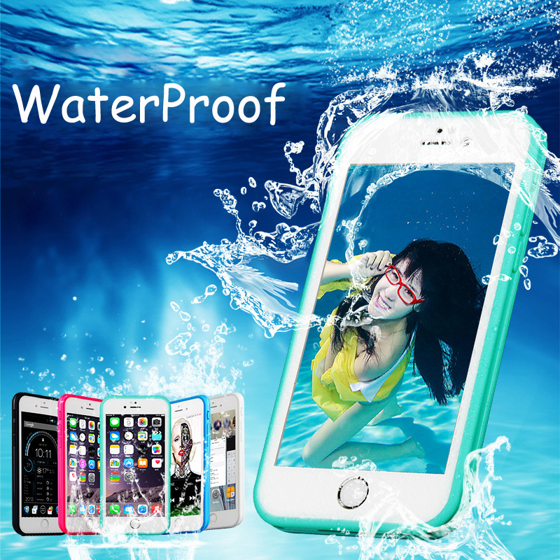 New Luxury Shockproof Hybrid Rubber Waterproof TPU Phone Case Cover For iPhone 6 6s/6s Plus Cover case bags(China (Mainland))