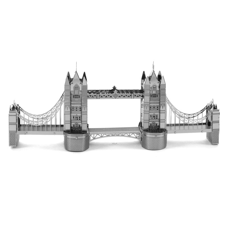 London Bridge 3D Puzzle Metal World's Famous Building Series Five Tower Big Ben Lugger Hotel DIY Assembly Jigsaw Toys for Adult(China (Mainland))