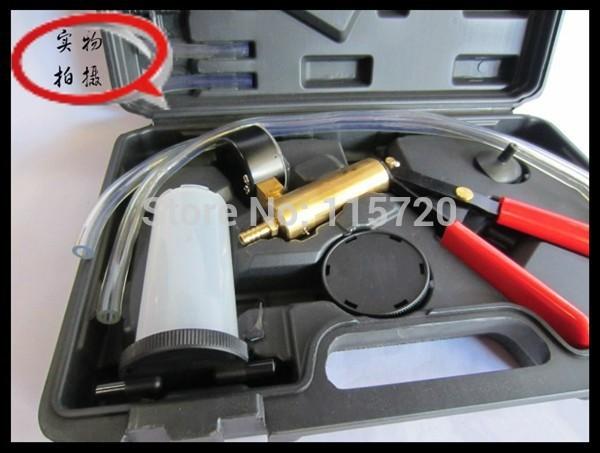 Free shipping Hand Held Brake Bleeder Tester Set Bleed Kit Vacuum Pump Car Motorbike Bleeding/ Bleeder Set Vacuum Pump Tester(China (Mainland))
