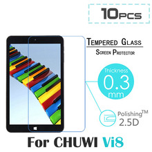 10pcs/lot For Chuwi Hi8 Tempered Glass Film Premium Tempered Glass Protector Guard Film For Chuwi VI8 8.0