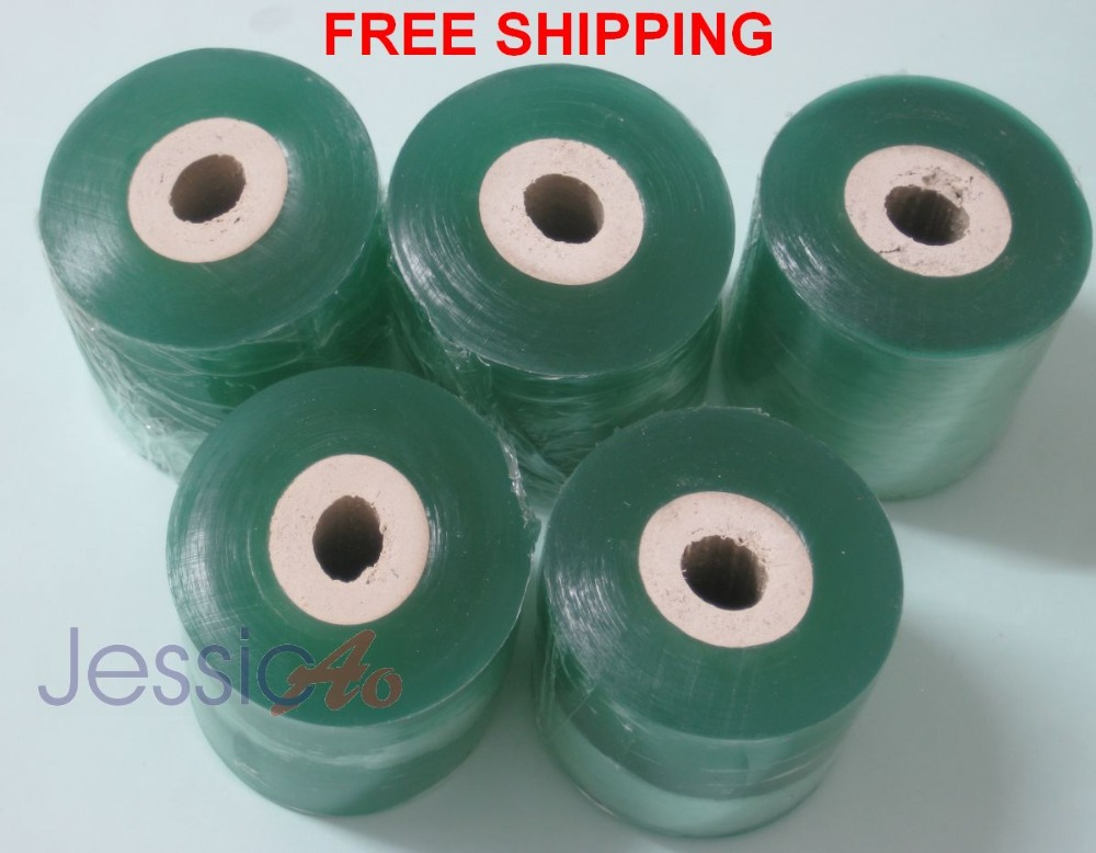 plastic Transparent film stretch cling wrapping film 80mm membrane stretch film Small roll wrap (5 pcs/lot) FREE SHIPPING(China (Mainland))