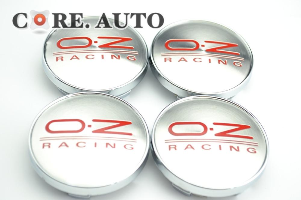 40PC X 60mm OZ Racing Alloy Red Wheel Center Badge fit AUDI VW Mitsubishi WHEEL Centre Emblem(China (Mainland))