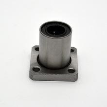 4pcs LMK16UU LMK16 16mm square flange linear ball bearing bushing for 16mm linear shaft guide rail rod round shaft cnc parts