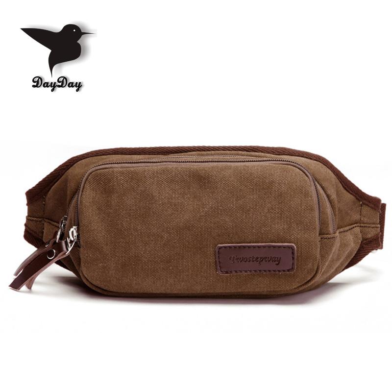 Military style Multifunction Men Canvas Waist Bag Casual mini men sport waist bag coffee colour Vintage style male crossbody bag<br><br>Aliexpress