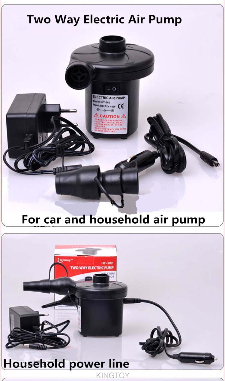 Air pump blower Two Way car home Electric Inflatable Mattresses Airbed Hovercraft DC 12V /220V