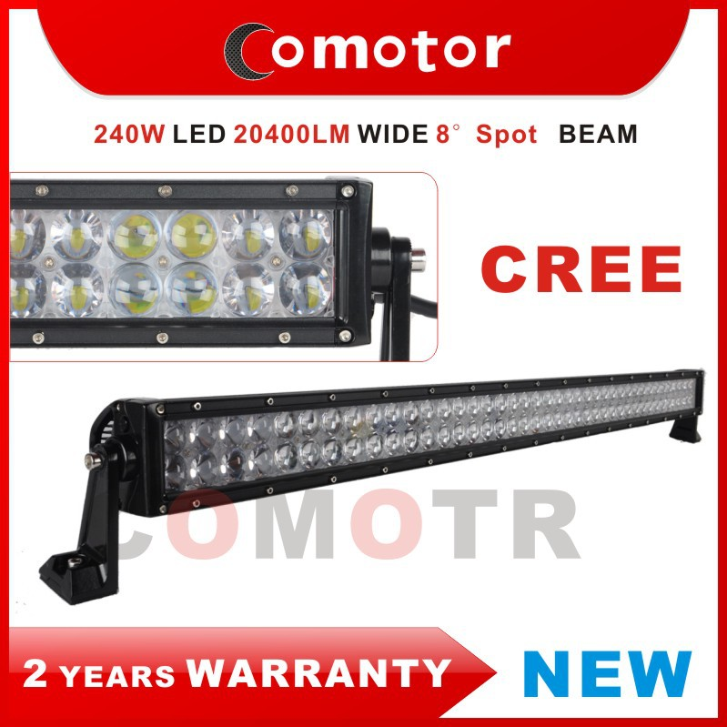 New 41.5 INCH 240W Spot beam LED WORK LIGHT BAR Offroad Led Work Light 12V/24V SUV ATV UTV 4WD 4X4 Off Road Led Light Bar(China (Mainland))