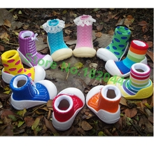 2015 New Attipas Same Design Shoes Baby Girl Boy Shoes Newborn Baby Shoes  Enfant Shoes Socks Rubber Sole Kids Boots(China (Mainland))