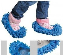 Chenille Slippers Microfiber Dust Removal Shoes Mop Covers Lazy Save Time New Design New Arrival Freeshipping 200 pair(China (Mainland))
