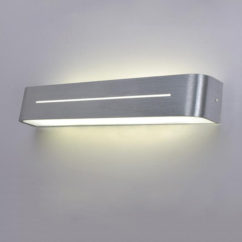 2016 new modern brief aluminum cob led wall light make up