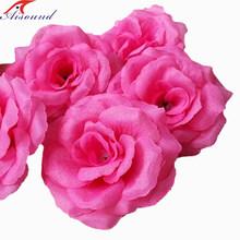 """3.2 """" вырос головы для цветы, 16 цветов, Искусственный шелк для свадьбы или ну вечеринку декор, цветы искуственные, Diy ремесло(Китай)"""