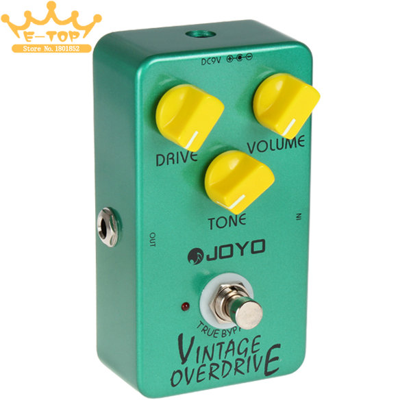 Joyo JF-01 Vintage Overdrive Full Sound Guitar Pedal with True Bypass for Classic<br><br>Aliexpress