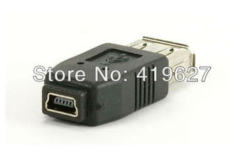 computer components 5PCS USB 2 0 A Female to Mini USB B Type 5P Female Data Connector Adapter Convertor Free Shipping