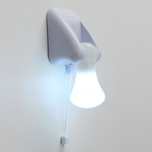 Wire LED Bulb Portable Cabinet Lamp Night Light Battery Self Adhesive Wall Mount(China (Mainland))