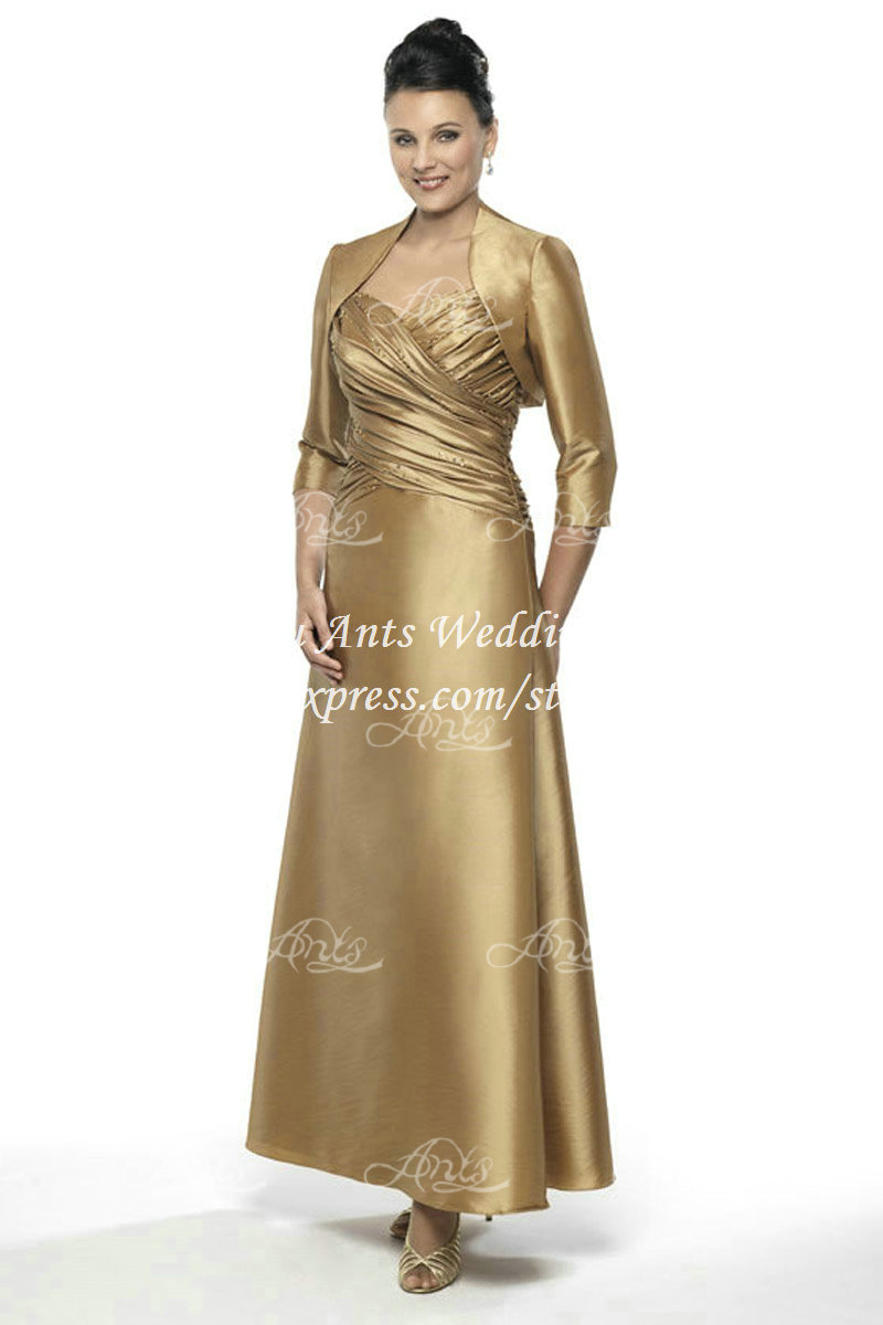 2015 Gold Champagne Mother Of The Bride Dresses With