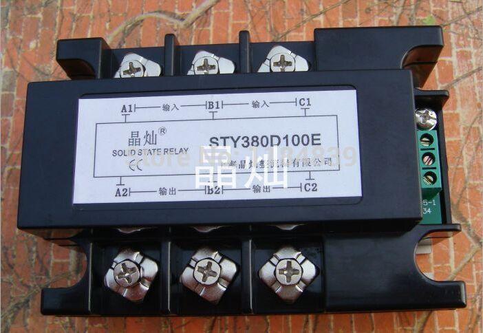 Трехфазные твердотельные реле давления регулятор SCR3-100LE ССР постоянного тока 100А реле ил