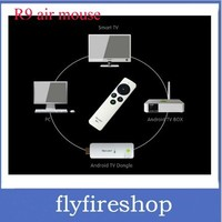 High quality RC9 Mini Gyroscope 3D fly Air Mouse 2.4GHz Wireless keyboard for TV Box PC  wholesale