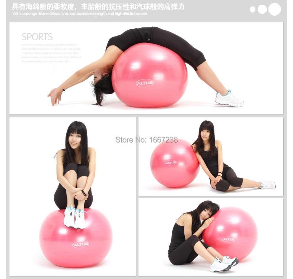 NEW pilates ball 55cm,gym ball,yoga ball,with Air Pump,purple, silver red blue pink(China (Mainland))