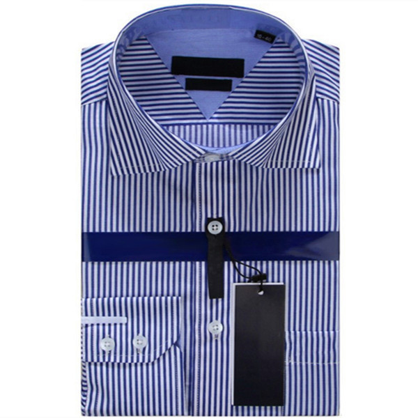 Striped Men s Business Casual Long Sleeved Dress Brand Shirt Marcas Camisa Masculina Male Social Shirts