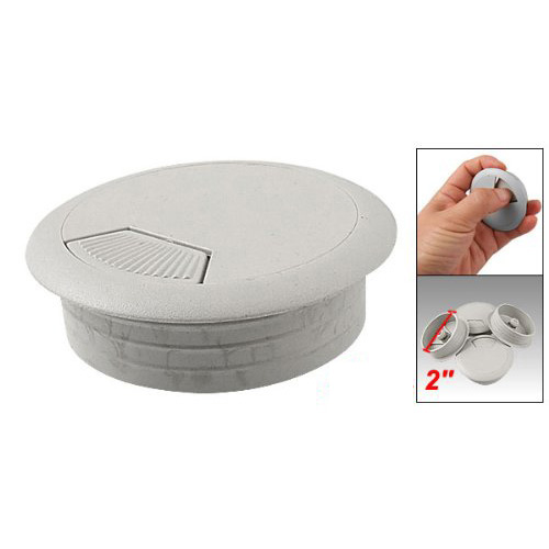 "hot sale! New Practical Superior Desk Plastic Flip Top 2"" Cable Hole Cover Grommet 4 Pcs(China (Mainland))"