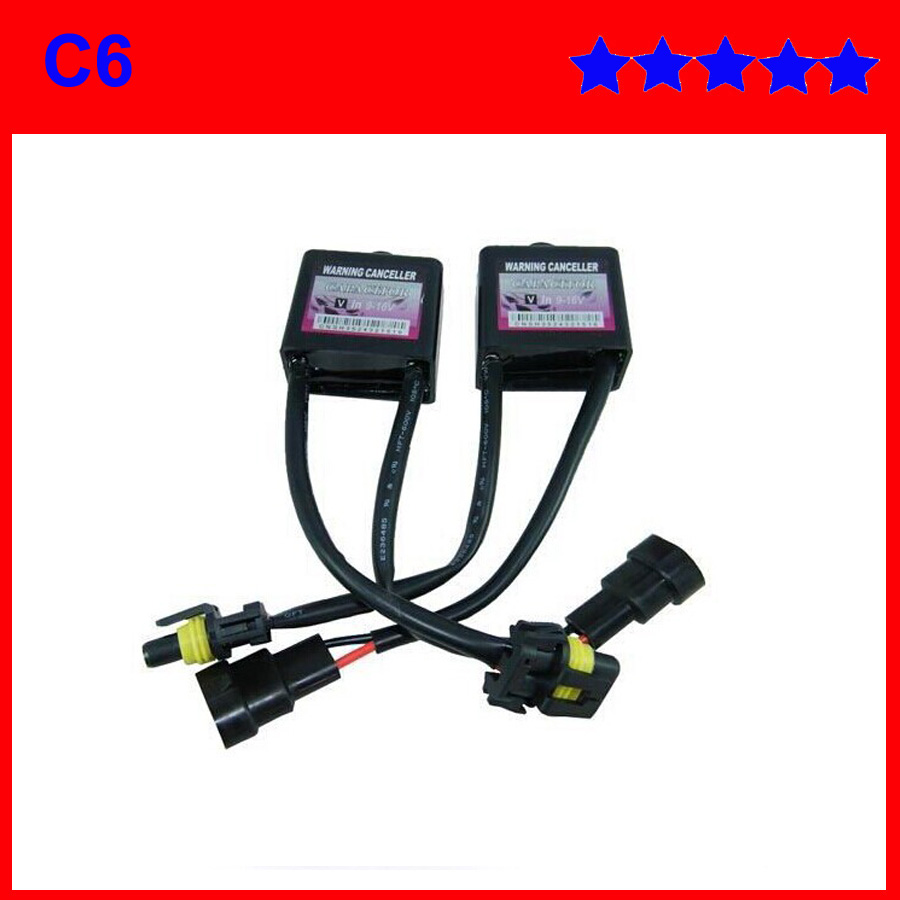 car Headlights C6 HID warning canceller C6 HID warning decoder for H1/H3/H4/H7/H11 error free canbus 2 pcs a lots(China (Mainland))
