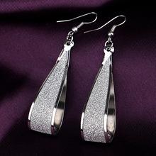 Silver/Gold Crystal Scrub Drop Hook Dangle Earrings Long earring Pendientes For Women Er838(China (Mainland))