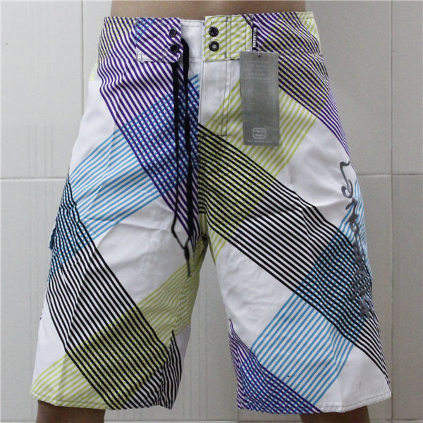 PQ#B017 White Blue Purple Striped Man's Fashion Quick Dry Swimwear Brand New Sport Wear Board Shorts Beach Surf Size 30(China (Mainland))