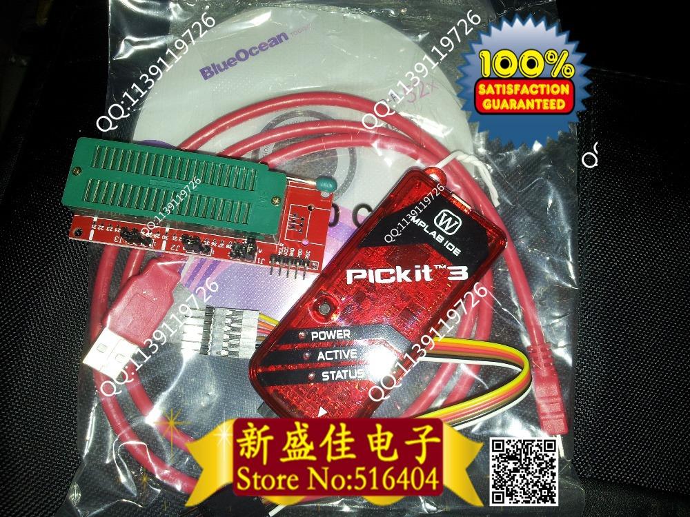 Гаджет  Free shipping PICKIT3 Programmer + PIC ICD2 PICKit 2 PICKIT 3 Programming Adapter Universal Programmer Seat None Электронные компоненты и материалы