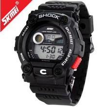 Tiempo el nuevo reloj de hombre deportes electrónica reloj resistente al agua de los estudiantes varones, envío gratis