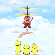 Buy Despicable Me5 Minions Infrared Induction Flying Toy Electronic Interactive Toys Mini Rc Helicopter Floating Remote Control for $10.67 in AliExpress store