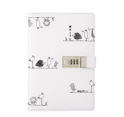A5 With Lock Code Creative Simple And Cute Notebook Diary QM45(China (Mainland))