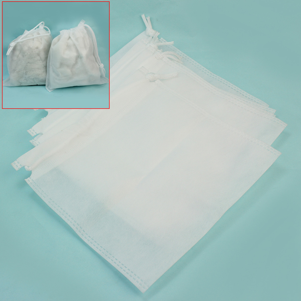 5pcs White Non-Woven Dust Collector Replacement Bags Nail Art Tools Salon Supplies(China (Mainland))