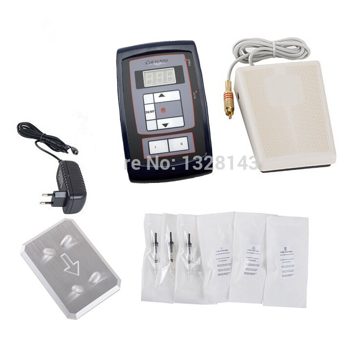 Professional Permanent Makeup Kit High Quality Tattoo Eyebrow Pen LCD Power  Supply Footswitch 30pcs Needles Free