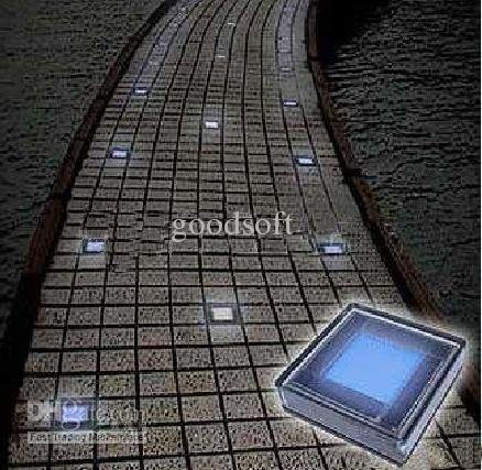 Solar Brick Light,Solar Road Studs ,Solar Road Lamp light +super bright 6LED White bulbs-in ...