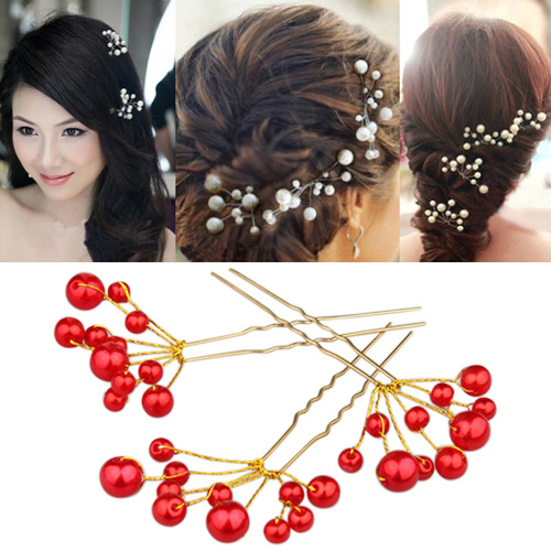 Elegant Women Ladies Wedding Bridal Bridesmaid Man made Pearls Hair Pins Clips Comb Headband Sticks Accessories