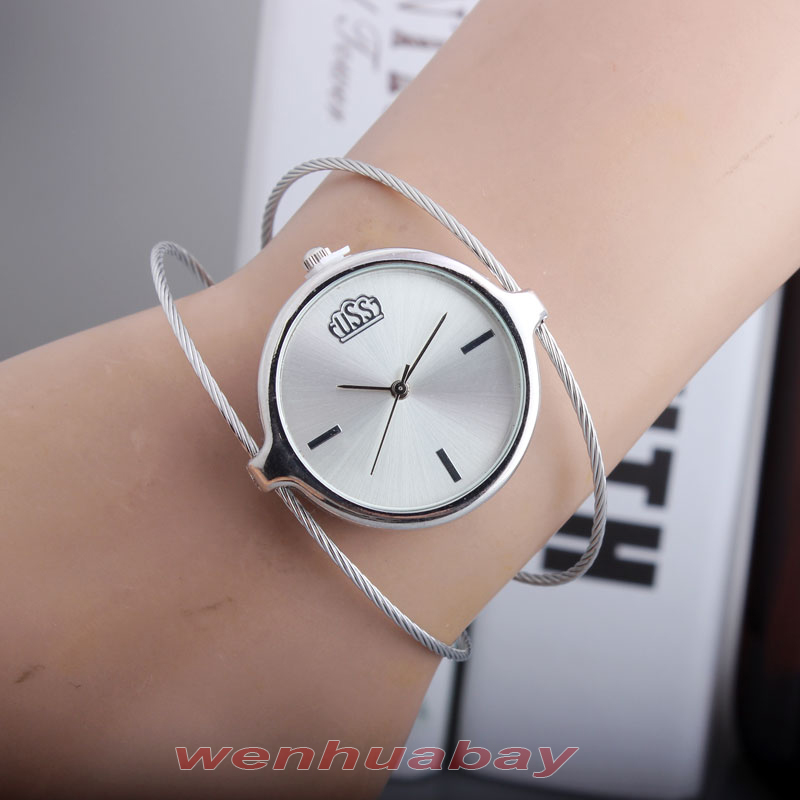 Гаджет  Charm Women Lady Girl Silver Steel Wire Round Dial HouAnalog Quartz Bracelet Bangle Wrist Watch Top Quality Best Gift B6970 None Часы