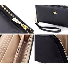 Lady Wallets Clutch 6 colors PU Leather Women Wallet Handbag New Fashion Holders Popular Long Zip