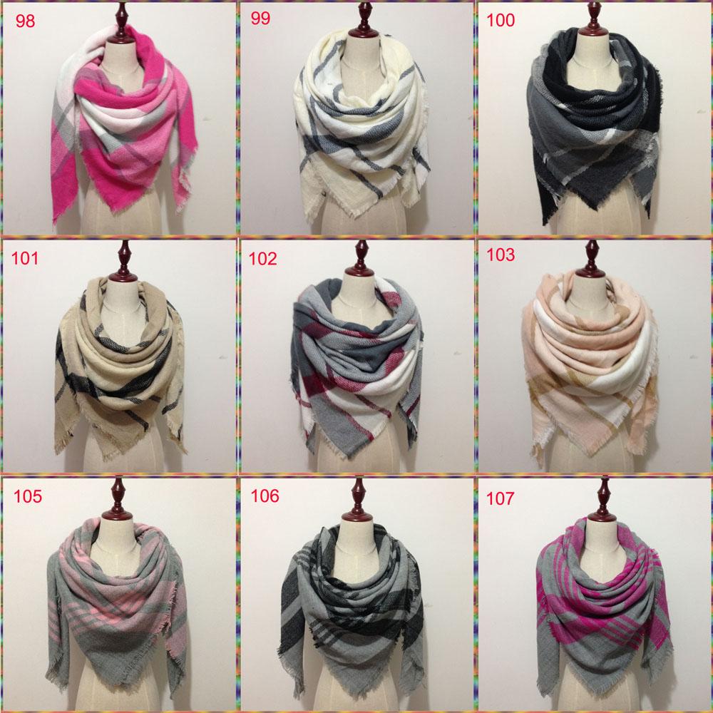 Za winter oversize plaid new designer blanket  unisex acrylic wrap cashmere scarf shawl pashmina for spring fall 140x140CM
