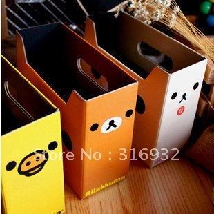 F6 Free shipping DIY home storage box DIY Rilakkuma box, 6pcs/lot(China (Mainland))