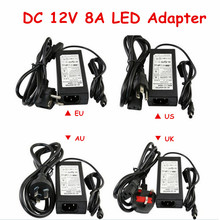 12V 8A LED Transformer, CE Rohs SAA FCC Approved LED Power Supply 96W LED Adapter 12V DC(China (Mainland))