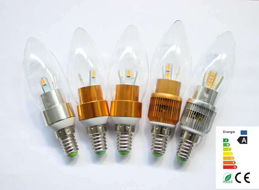 NEW 10pcs E27 E14 Epistar Led Candle Bulb 3W 220V 110V Flame Light Bulbs Filament Lamp 85v-265v Free Shipping(China (Mainland))
