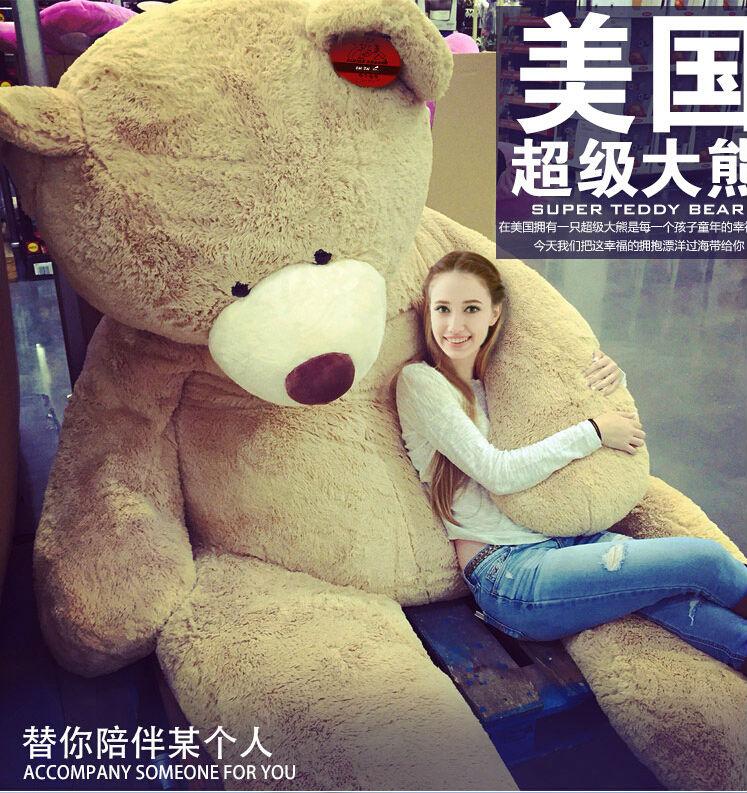 260cm/102'' Teddy Bear Giant Plush Stuffed teddy bear big large plush stuffed soft toy kid children doll Christmas gift(China (Mainland))