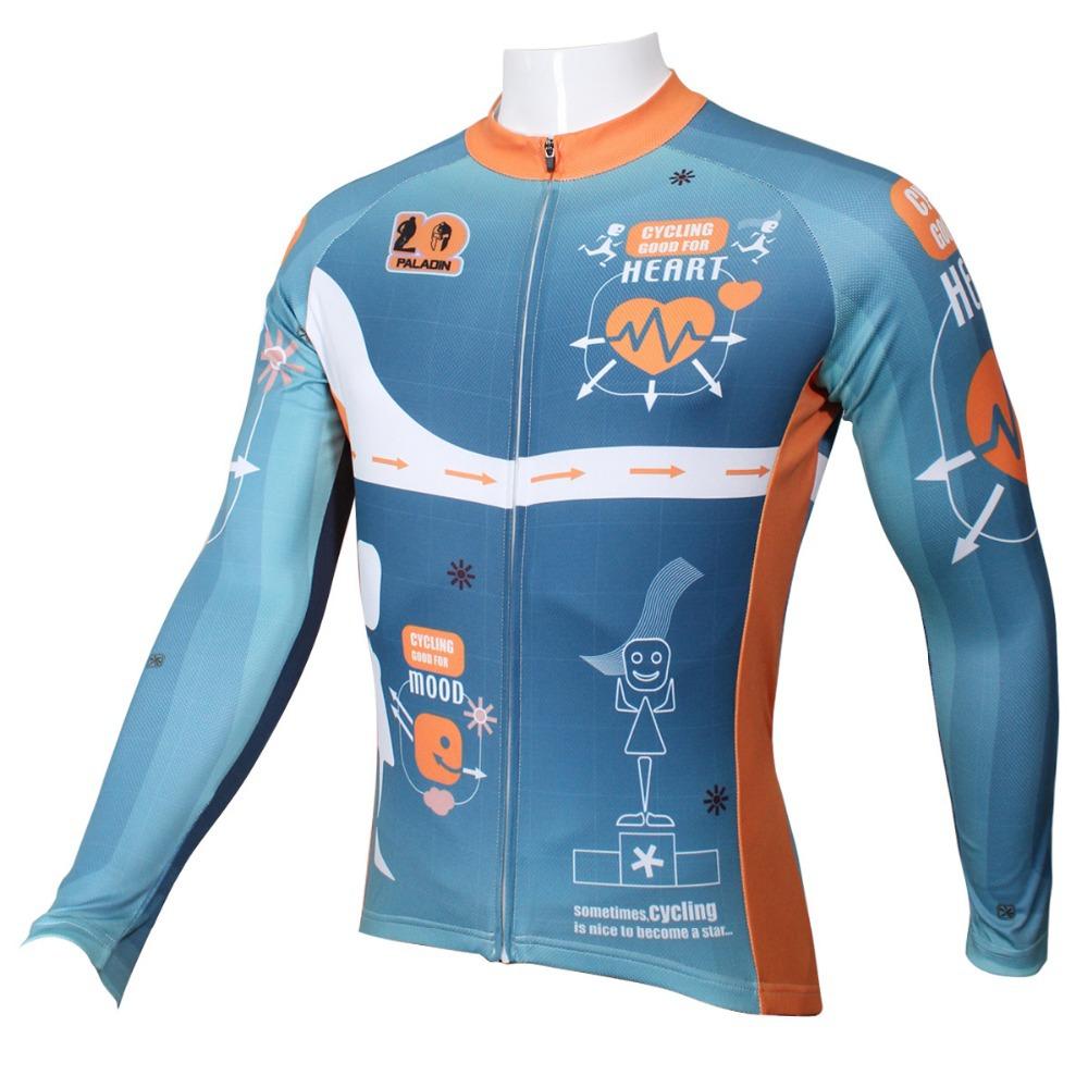 PALADIN  Heartbeat  Mens Long Sleeve Cycling Jersey Bike Shirt Cycling Clothing<br><br>Aliexpress