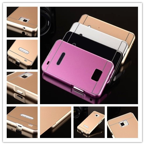 Luxury 2in1 Metal+Acrylic Back Hybird Cases Ultra Thin Aluminum Bumper Case For Samsung Galaxy S2 SII i9100 9100 Cell S2 Phone(China (Mainland))